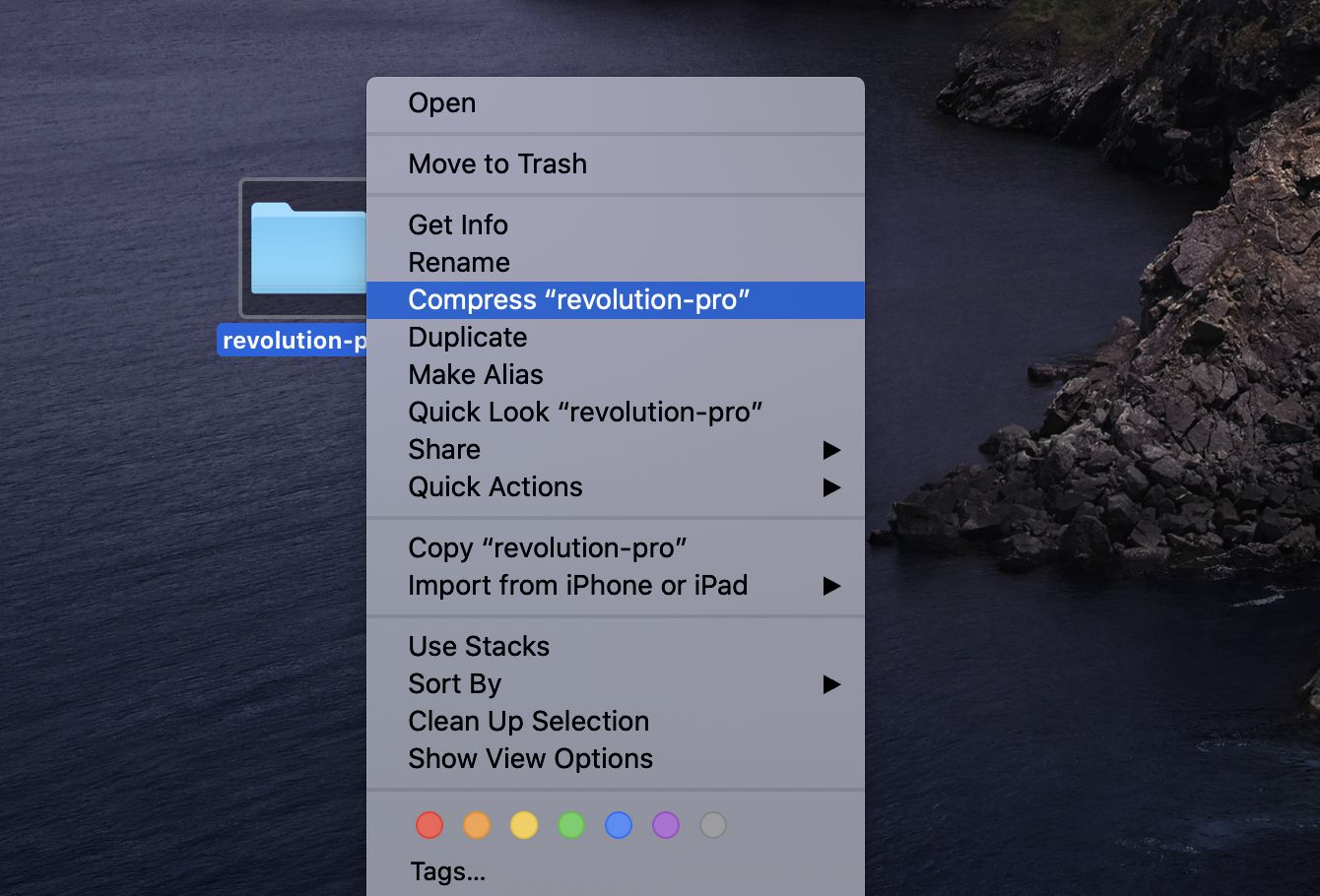 how to compress files on mac