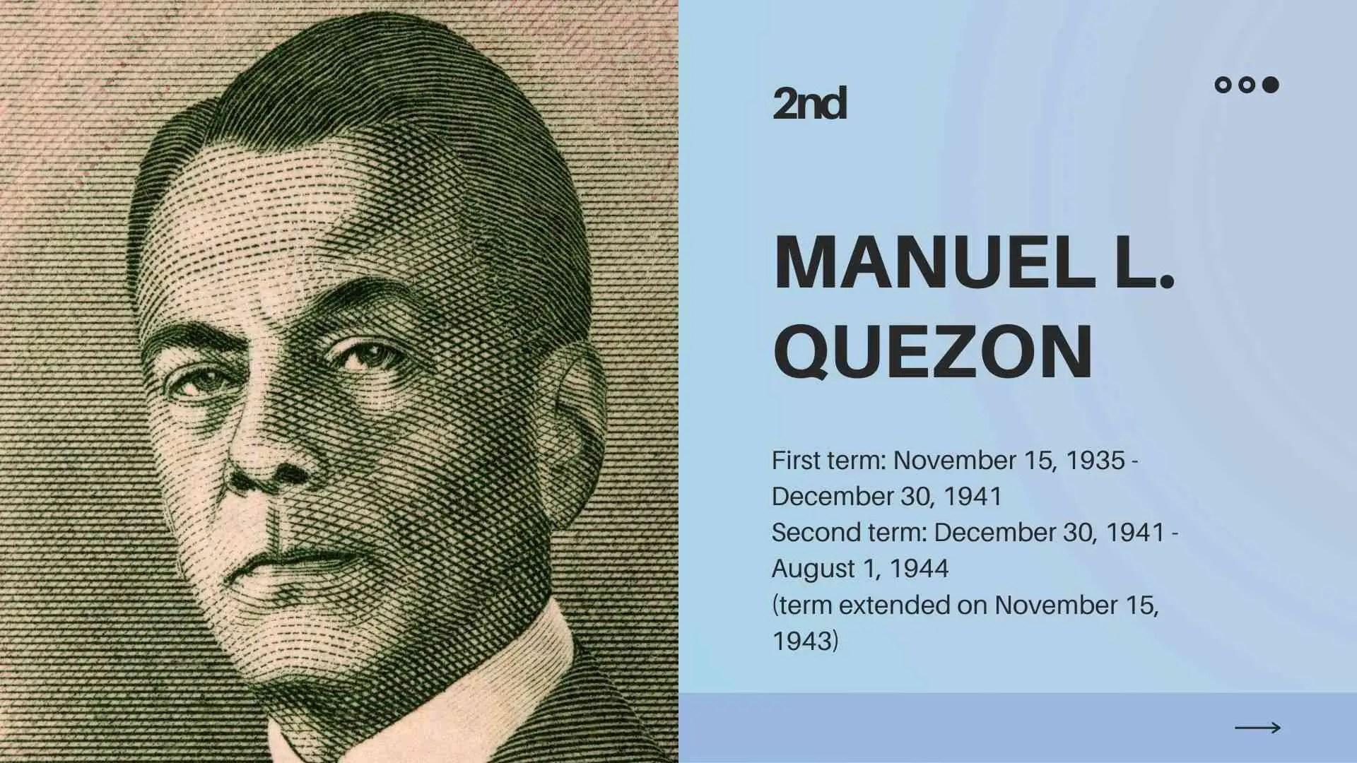 president philippines manuel quezon contribution
