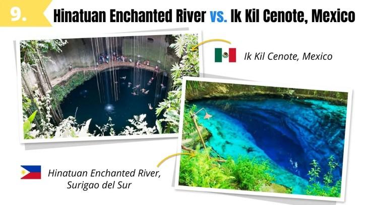 hinatuan enchanted river surigao del sur like ik kil cenote mexico
