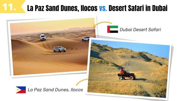 la paz sand dunes ilocos norte vs dubai desert safari