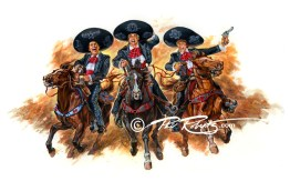 3 amigos painting by phil roberts