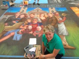 I Madonnari Street painting, Italian street painting festival, 2013 santa barbara, Phil Roberts Portraits