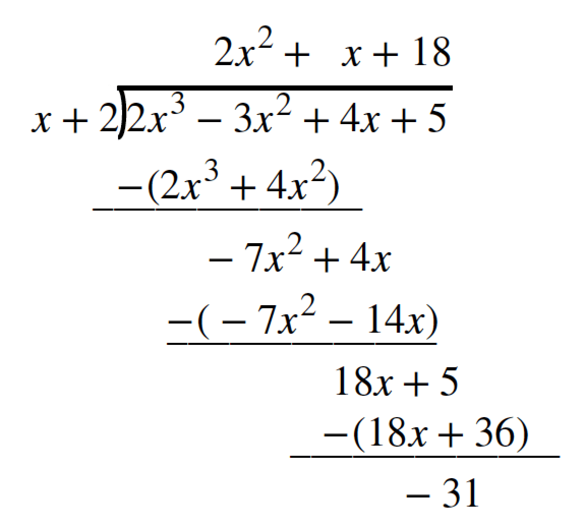 Division Of Polynomials Worksheet