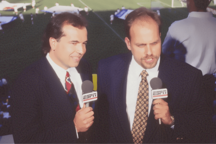 Ready for action in Major League Soccer's inaugural game along with Ty Keough at San Jose's Spartan Stadium back in 1996.