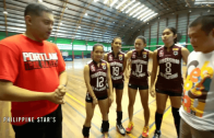 Kap drives around in the Honda Pilot with the UP Lady Maroons