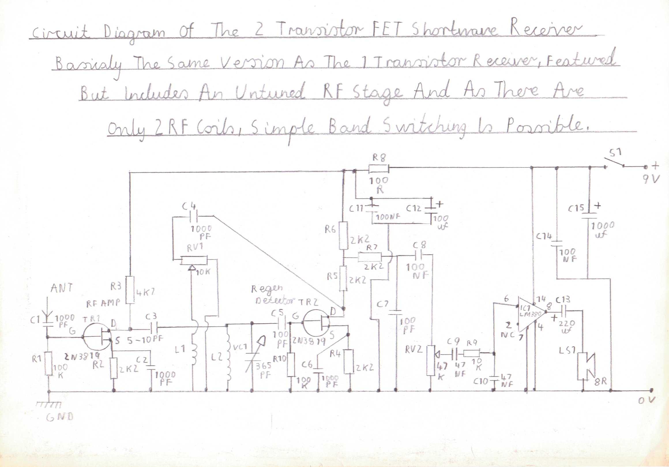 Progressive Crystal Set To Regenerative Receiver Using Safe 12v Ht Line