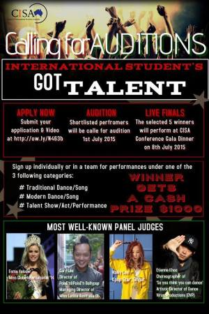 international students got talent