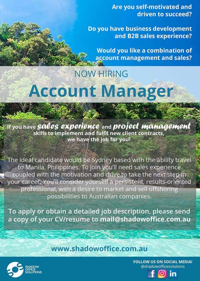 Shadow Office Hiring Now