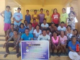 Turn Over of Rescue Boat to Small Fisherman Folks, Manipulon Island, Estancia, Iloilo