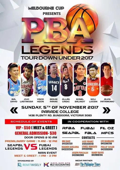 """PBA Legend tour Down Under """"Melbourne"""""""