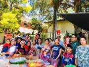 Christmas party with former clients, nurses who have taken residence in Australia.