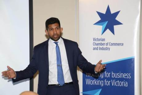 Cyril Paiva, Team Leader of the Business Development and Relationships of the Victorian Chamber of Commerce and Industry, discusses VCCI's services and programs.