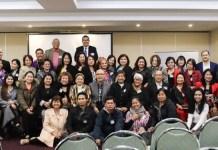 Ambassador Calaguian-Cruz met with Filipino leaders in Victoria.