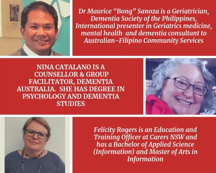 Speakers on Dementia forum