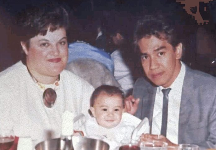 Mark Villa-Racho with wife Maria and baby Dannielle.