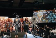 Rocky Gathercole with his avant garde pieces