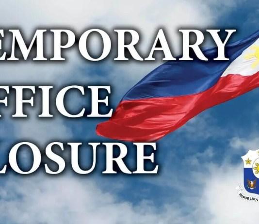 Temporary office closure