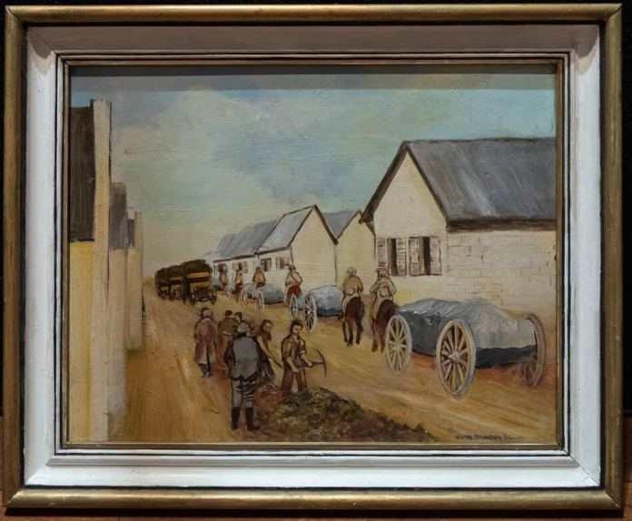 "Mr David Johnson's painting, ""March on Ypres"""