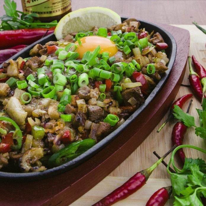 Sisig is a favourite dish at Reynaldo's