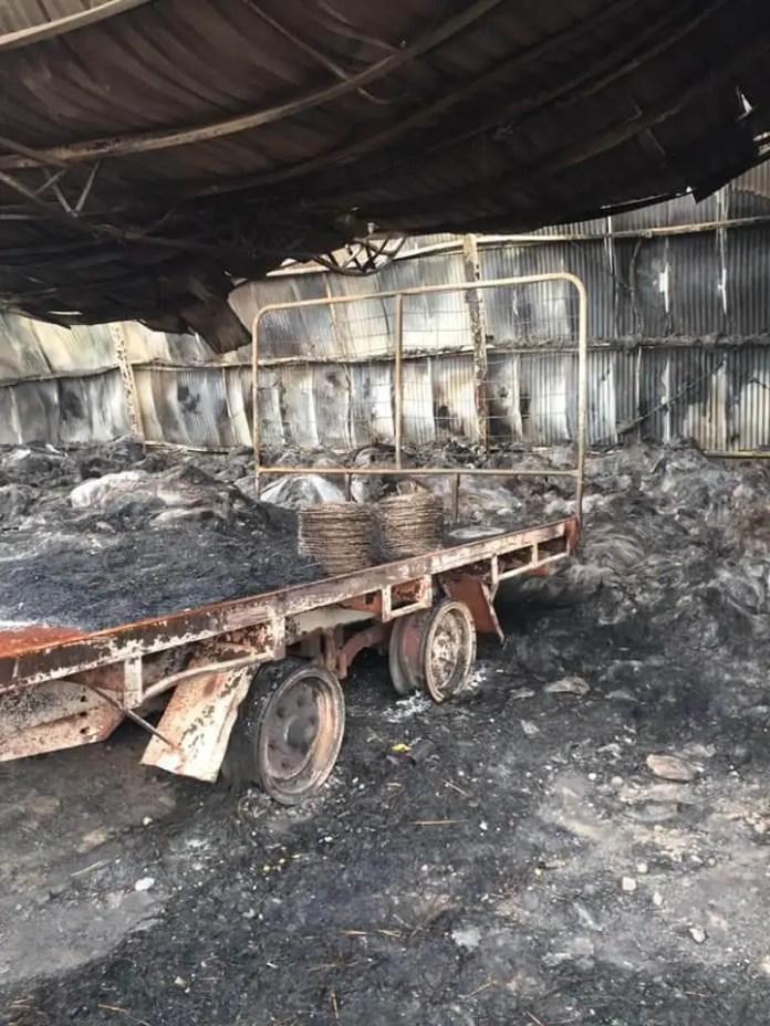 Burnt truck in Gelantipy
