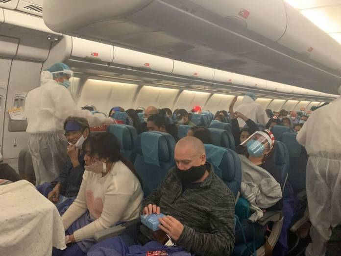 Passengers aboard PAL flight to Melbourne | Photo: Gayzha Davao