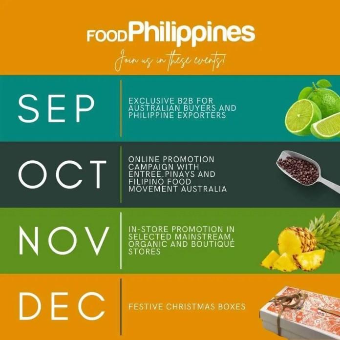 Food Philippines monthly schedule