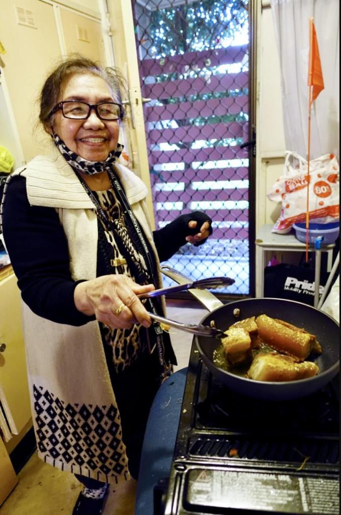 JULIE enjoys cooking, even after a busy day. She continues to teach and tutor Year 12 Tagalog students online at the Philippine Language School of Victoria. | Photo: Jason Cordi