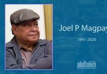 Joel P Magpayo 1941-2020