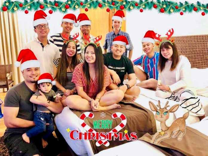 Cabral and Laysico Family at Christmas