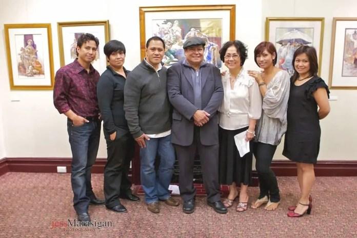 MAGPAYO FAMILY (L-R) Joel Jr, Marie, Origen, Ka Joel, Lynda, Jemima, and Mylene   Photo: Jess Marasigan