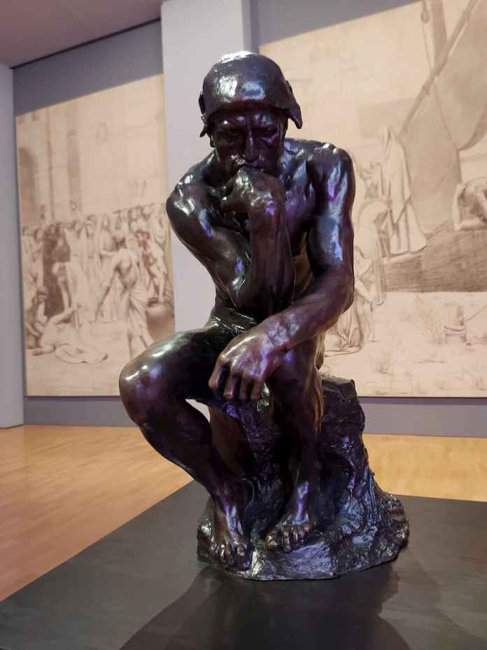 NGV houses the first cast of Rodin's iconic sculpture The Thinker