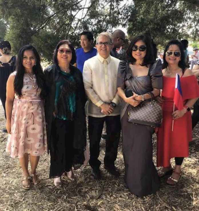 Rizal Day celebration in Ballarat, Victoria in 2019 with Rizal's great grandniece Josephine Quintero (2nd from right) and Deputy ConGen Anthony Mandap (centre).