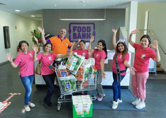 Between January to March this year, FAHWA donated over 200kg of food through Foodbank, which equates to 400 meals for Western Australian families in need.   Photo credit: Filipino Australian Health Workers Association