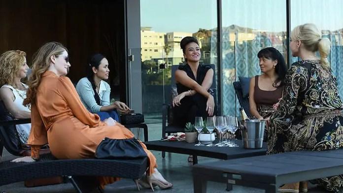 Women of power (L-R): Heather Mitchell, Miranda Otto, Aina Dumlao, Michelle Vergara Moore, Lena Cruz and Susie Porter | Photo: SBS