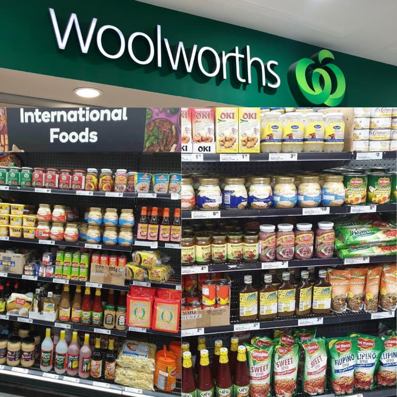 Woolworths international food section