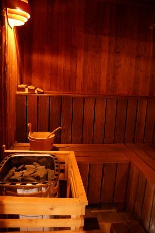 Le sauna au domaine de Champé