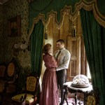 Jennifer Summerfield and Peter Zielinski as Nora and Torvald in the site-specific Victorian setting of Ebenezer Maxwell Mansion's A DOLL'S HOUSE. Photo by Kyle Cassidy.