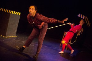 Alex Suha and Kevin Chick in DO NOT PUSH. Photo Credit: Kathryn Raines at Plate 3 Photography.