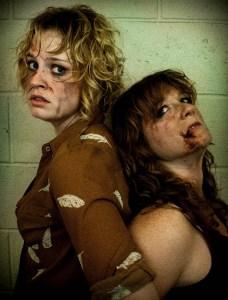 Cait O'Driscoll, Kristen Schier in Figment Theater's SLASHER. Photo credit: Erin Pitts
