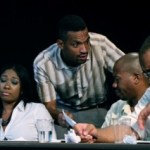 Roni Graham, Carlo Campbell, Eric Carter, Jeff Hymon in 12 ANGRY MEN. (Photo credit: Katie Balun)Roni Graham, Carlo Campbell, Eric Carter, Jeff Hymon in 12 ANGRY MEN. (Photo credit: Katie Balun)