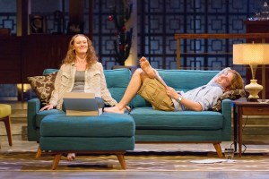 Krista Apple-Hodge and Matteo Scammell in the Walnut's Other Desert Cities.