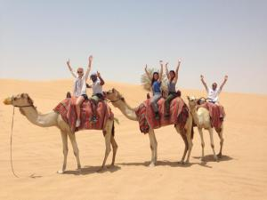 Members of Brian Sanders' JUNK in Dubai (Photo credit: Courtesy of Brian Sanders' JUNK)