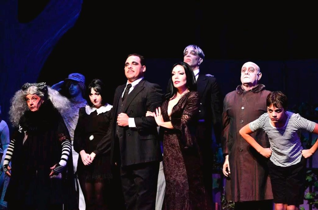 The Addams Family, Susan Wefel, Lauren Cupples, Jeff Coon, Jennie Eisenhower, Bill Vargus, Nicholas Saverine, and JD Triolo