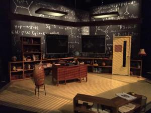 Dirk Durossette's set design for the Lantern's QED (Photo credit: Courtesy of Lantern Theater Company)