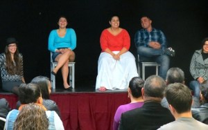 A talk back with the audience after MORIR SONYANDO.