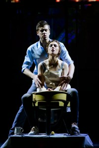 """Anna Giordano as Molly and Zack Krajnyak as Sam in """"the pottery scene"""". Photo by Maura McConnell."""
