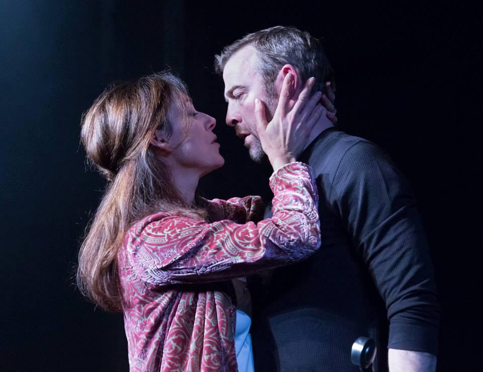 Judith Lightfoot Clarke as Lady Macbeth with Ian Merrill Peakes as Macbeth. Photo by Mark Garvin.