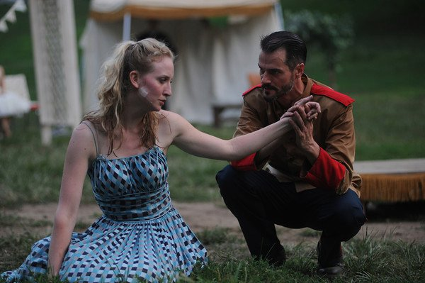 Victoria Frings and Allen Radway in Much Ado About Nothing, 2011. Photo by Kyle Cassidy.