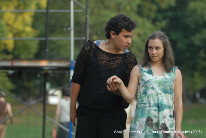 Conrad Ricamora and Marla Burkholder in SCP's second-ever production, Romeo & Juliet, in 2007. Photo by Kyle Cassidy.