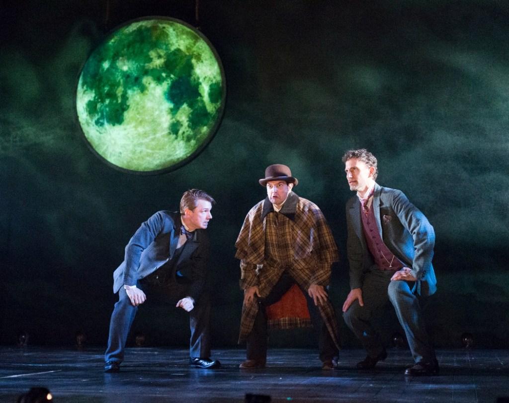 Henry Clarke, Matt Zambrano, and Ron Menzel in Philadelphia Theatre Company's BASKERVILLE: A SHERLOCK HOLMES MYSTERY (Photo credit: Mark Garvin)
